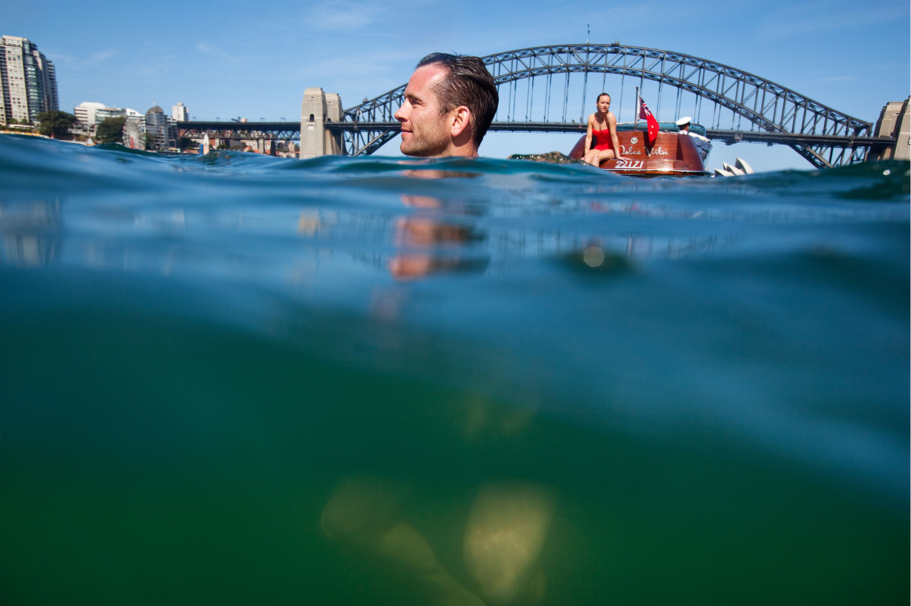 Lifestyle Tourism shoot in Sydney Harbour
